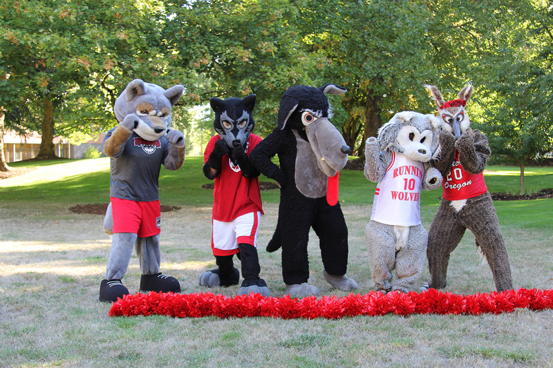 Five Mascots together, 2016