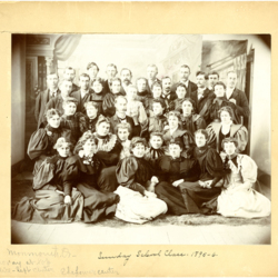 Sunday School Class, 1895-1896 in Monmouth Oregon