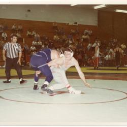 Two Wrestlers on Floor