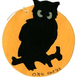 Dance Card, 1922, Owl
