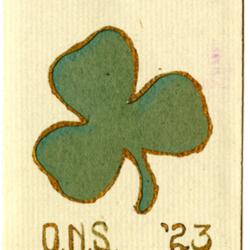 Dance Card, 1923