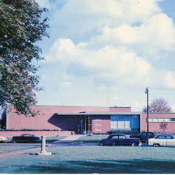 College Library, Full Front View in 1951<br /><br />