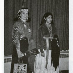 Montana Walking Bull and Marilyn Yellowbird at OCE Native Student Pow Wow 1974.jpg