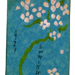 Dance Card, 1921, Spring