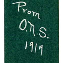 Dance Card, 1919, Junior Prom