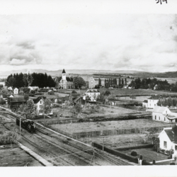 Aerial View of Campus in 1909<br /><br />