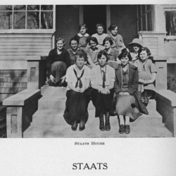 Group Picture in Front of Staats House, 1925<br /><br />
