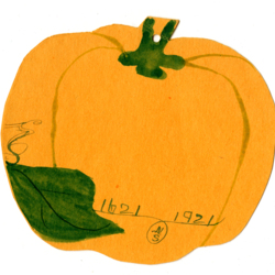 Dance Card, 1921, Pumpkin
