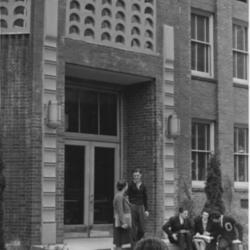 West Entrance of Administration Building, 1940&#039;s <br /><br />