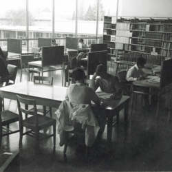 Students Reading in the College Library<br /><br />