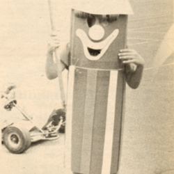 Person Dressed in Firecracker Costume