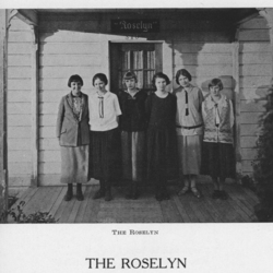 Group Picture in Front of the Roselyn, 1925<br /><br />