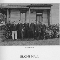 Group Picture in Front of Elkins Hall, 1925<br /><br />