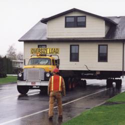 Truck Hauling Watson House<br />