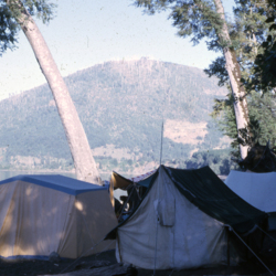 Camping on Caburgua beach