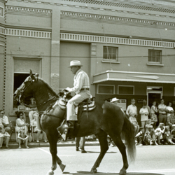 Man rides Horse on Monmouth Avenue During the Fourth of July Parade