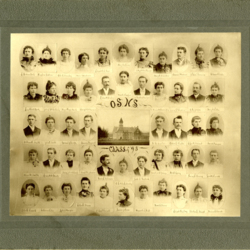 Oregon State Normal School Teachers from 1895 Portrait Composite