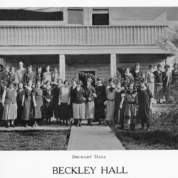 Group Picture in Front of Beckley Hall, 1925<br /><br />
